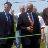 Commissioners Costello & Farrell cut the ribbon for the new Oxford Area Recreation Field